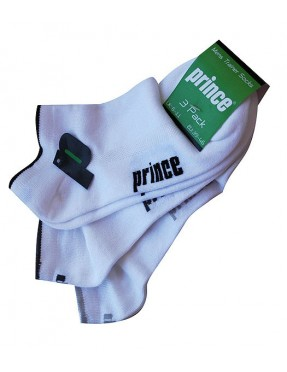 PRINCE Calcetines Trainer Tobilleros x3 (Blanco)